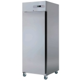 Kühlschrank, belüftet, 700 Liter, GN 2/1, Edelstahl, 1-türig, auf Rollen