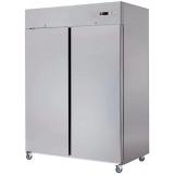 Kühlschrank, belüftet, 1400 Liter, GN 2/1, Edelstahl, 2-türig, auf Rollen