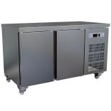Kühltisch, belüftet, 2-türig (GN 1/1), 260 Liter, auf Rollen