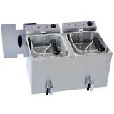 Fritteuse, Elektro, doppelt, Tischmodell, 2x8 Liter