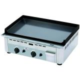 Gas-Grillplatte, Tischgerät (600x400mm), 2 Zonen, emailliert