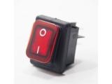 Wippschalter, rot, beleuchtet, IP65, 30 x 22 mm