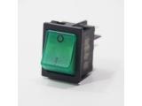 Wippschalter grün, beleuchtet, 30 x 22 mm